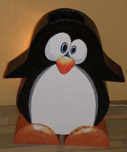 Pin le pingouin on pinterest - Bricolage en papier journal ...