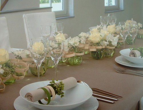 Table neutre - Decoration table mariage chic ...