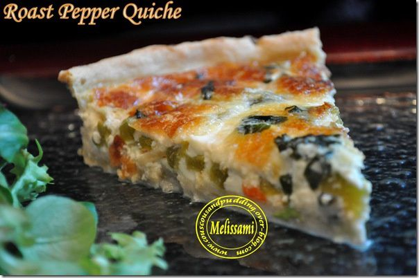 roast pepper quiche