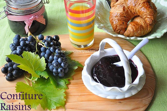 confiture de raisins rouges