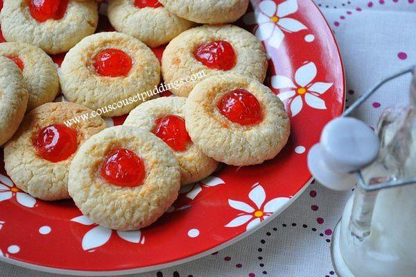 cookies aux cerises confites et noix de coco