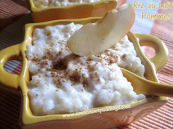 riz au lait et au pomme