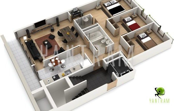 architecture blueprints 3d. Delighful Architecture 3DFloorPlanjpg In Architecture Blueprints 3d