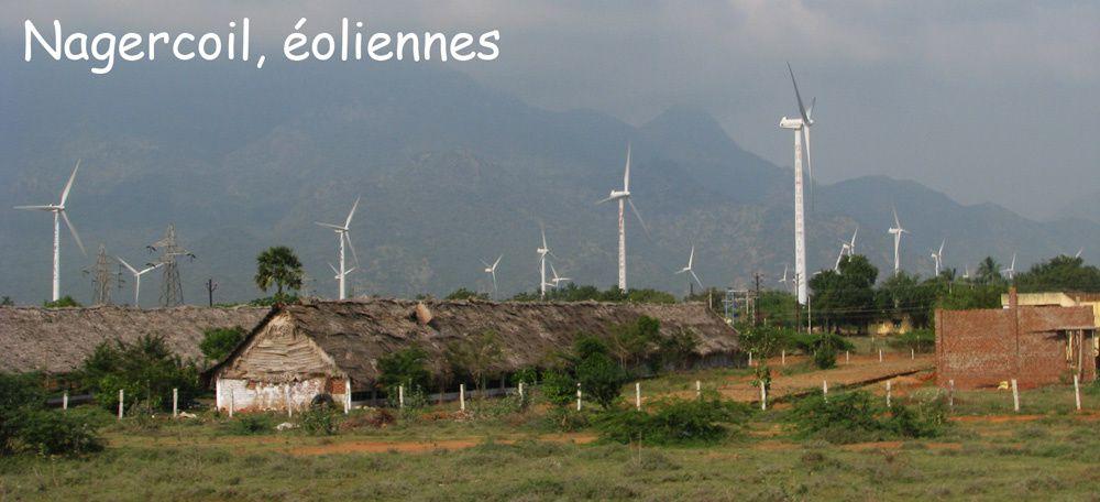 Tamil nadu : éoliennes de Nagercoil