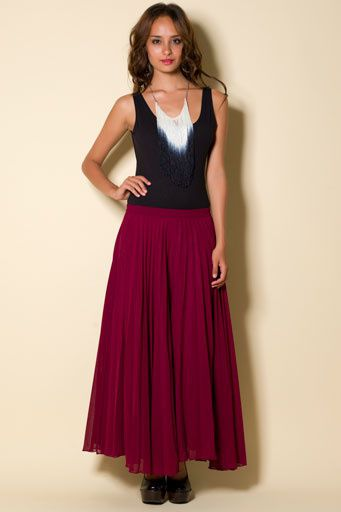 patsie skirt wine front 20515