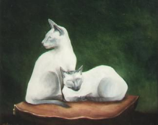 Chat-les Siamois 55x46