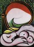 jeune fille devant un miroir 1932