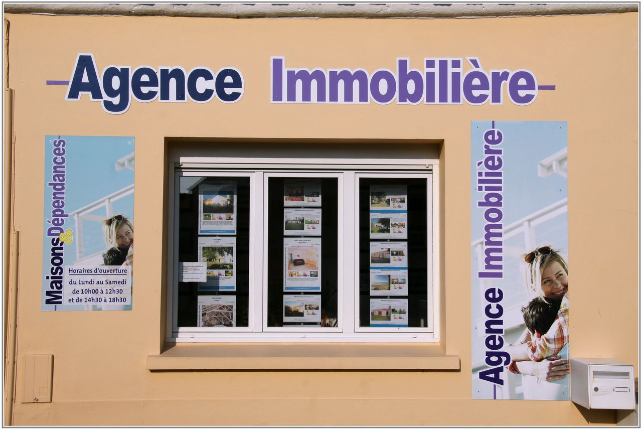 Enseigne 6 agence immobili re sallertaine 85 for Agence immobiliere 68
