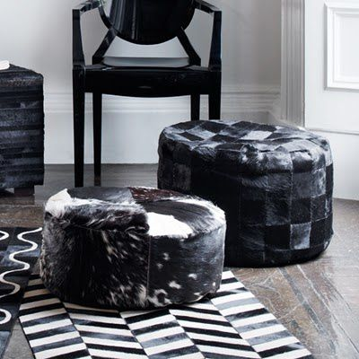 Animal Skin Pouffes via Graham and Green