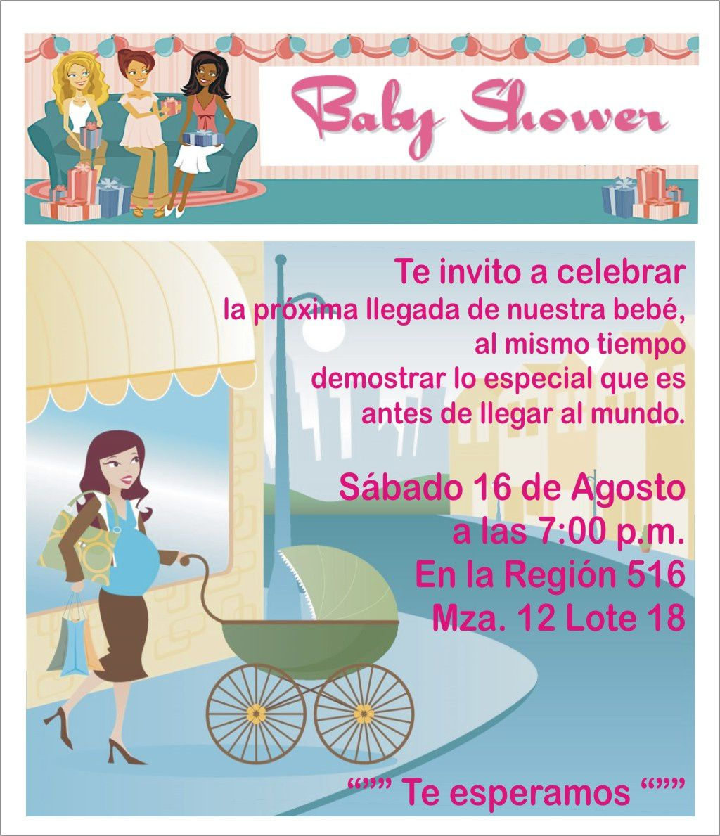 invitaciones de baby shower en espanol