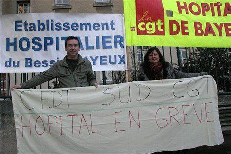 Grêve hôpital Bayeux