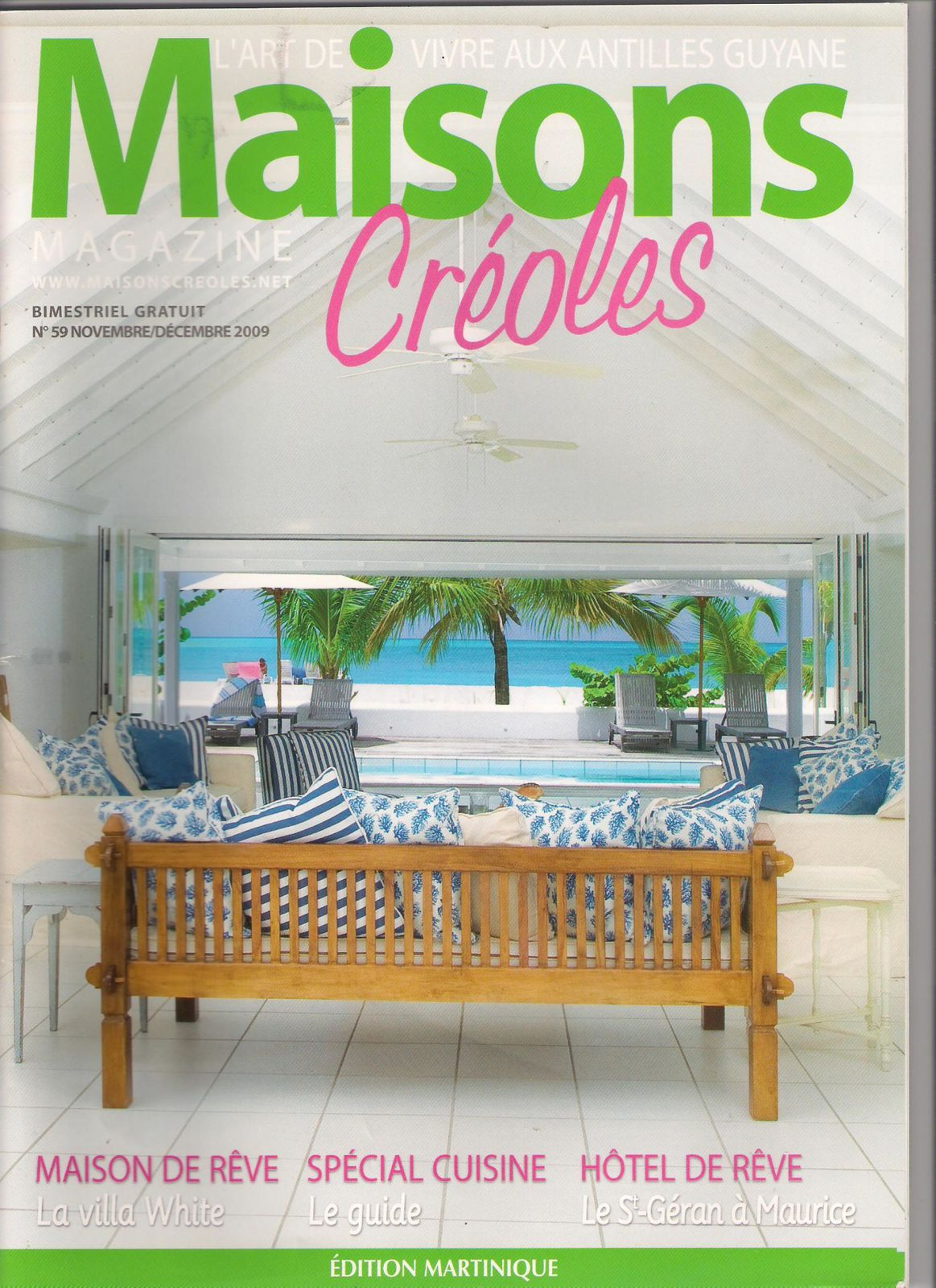 Album maisons creoles magazine le blog d 39 ingrid samson beuvin - Magazine de decoration maison ...