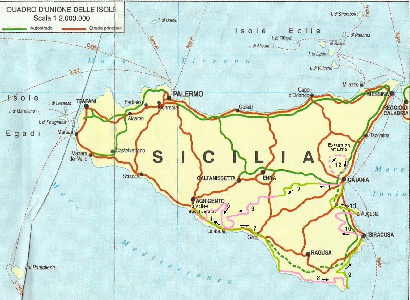 Sicile tourisme carte - Office de tourisme sicile ...