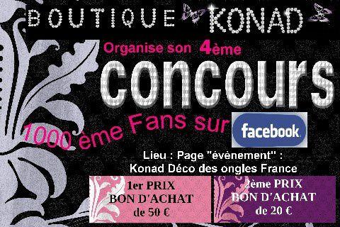 Concours Konad 4. Le reste est visible sur le site www.boutiquekonad.fr . date du 4 avril au 4 mai 2012 sur https://www.facebook.com/events/333218150061228/