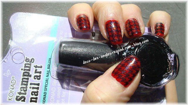 Stamping nail art KONAD sur ongle naturel ou en gel