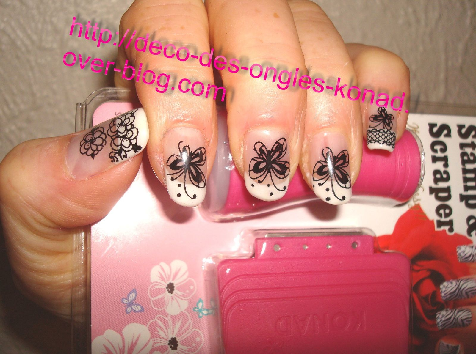kit deco ongles konad