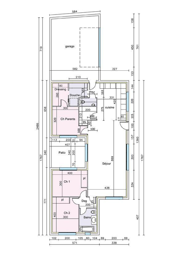 Largeur fondation maison du0027un plot bton permis de for Fondation pour maison container