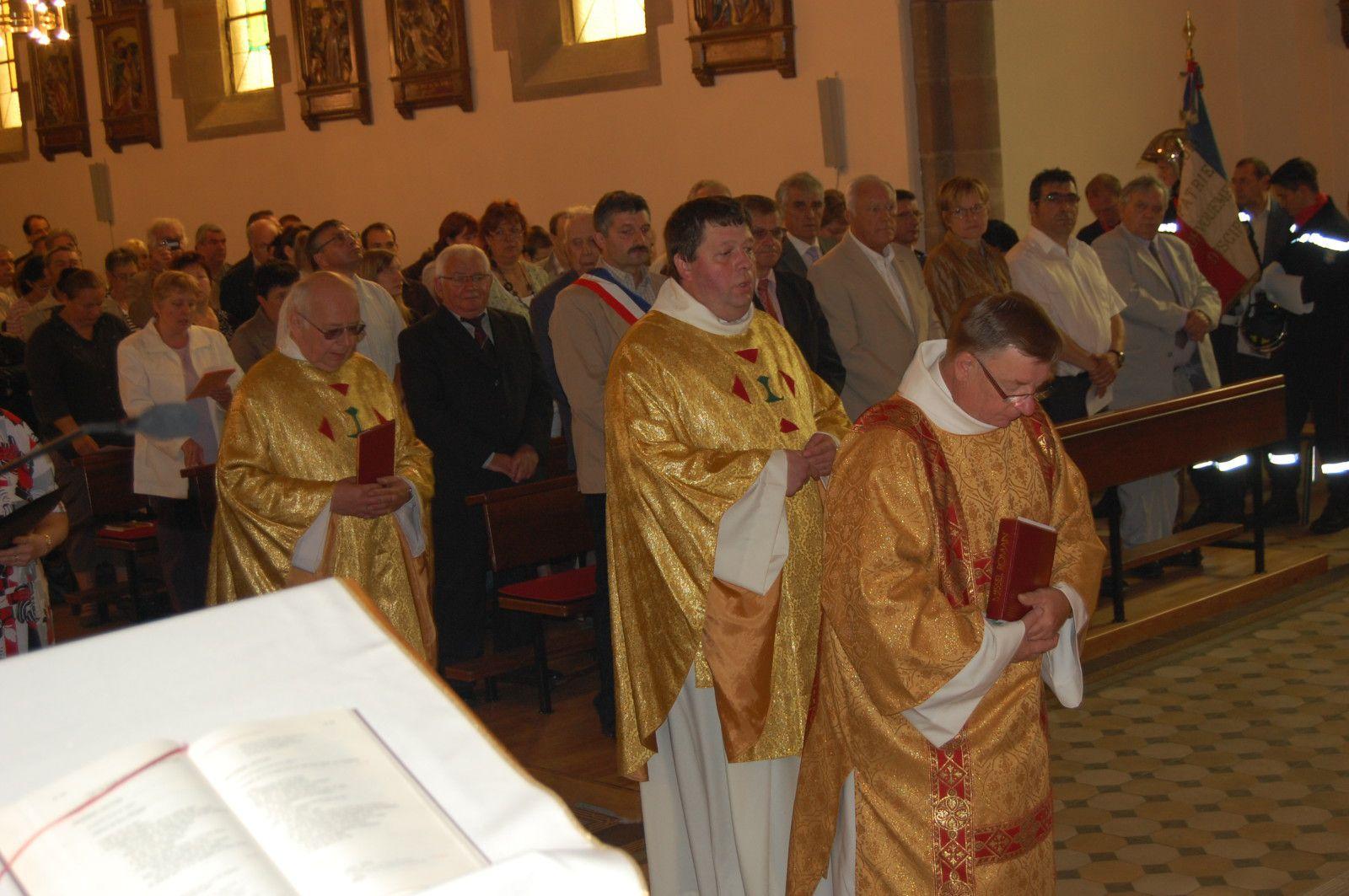 Messe inaugurale Eglise St Jacques de Mouterhouse le 8 juillet 201