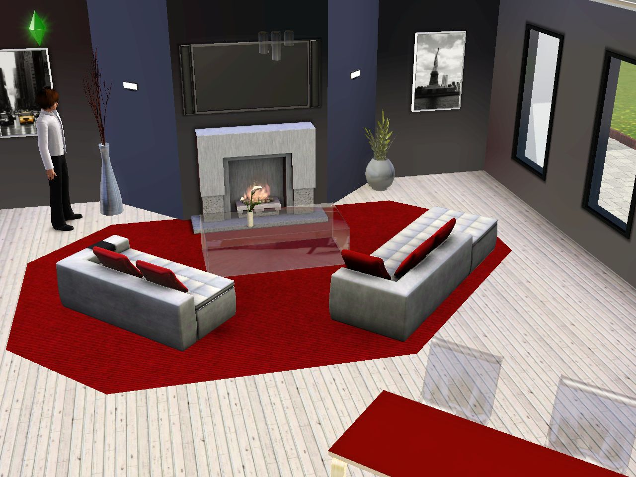 moquette rouge salon. Black Bedroom Furniture Sets. Home Design Ideas