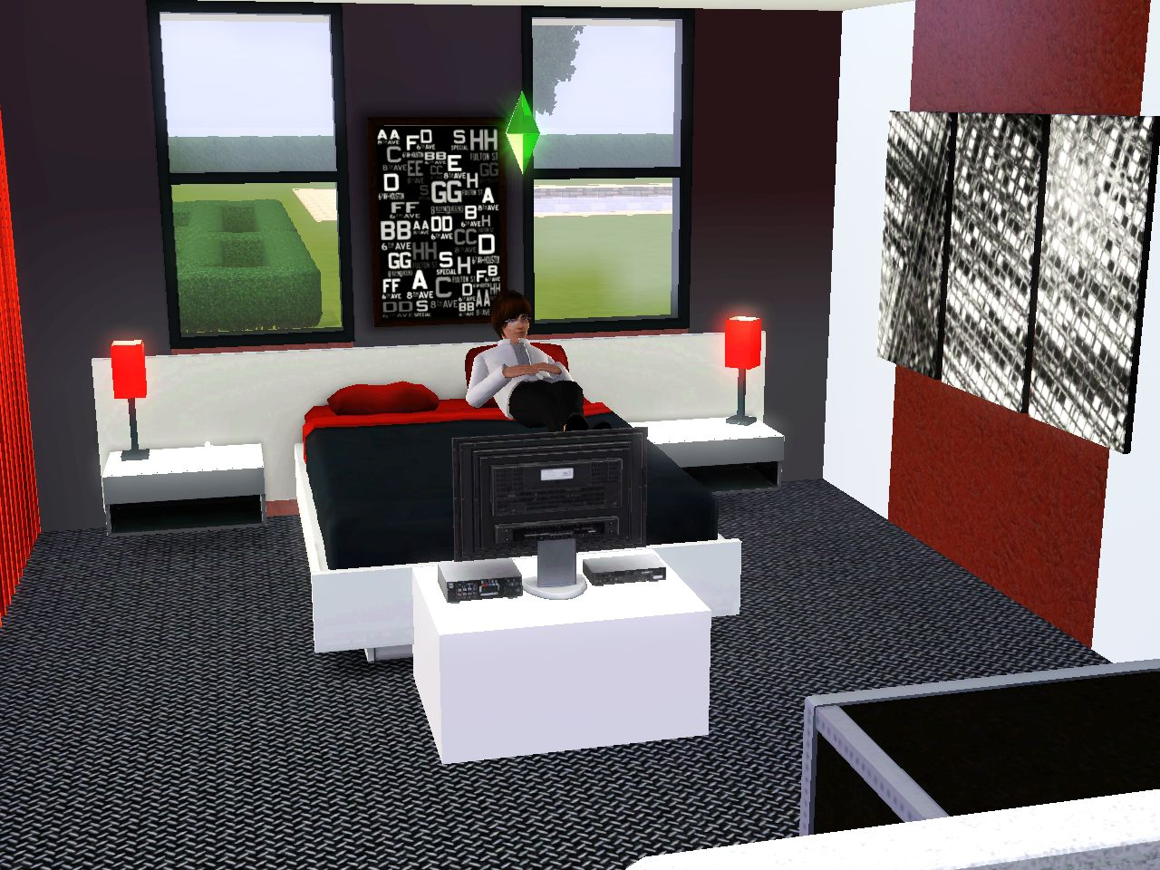 Villa immortelle top design sims3 for Chambre tres moderne