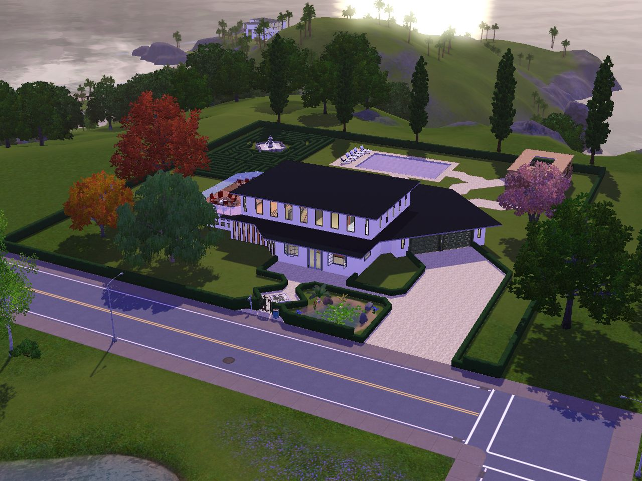 Villa immortelle top design sims3 for Maison moderne de luxe sims 3