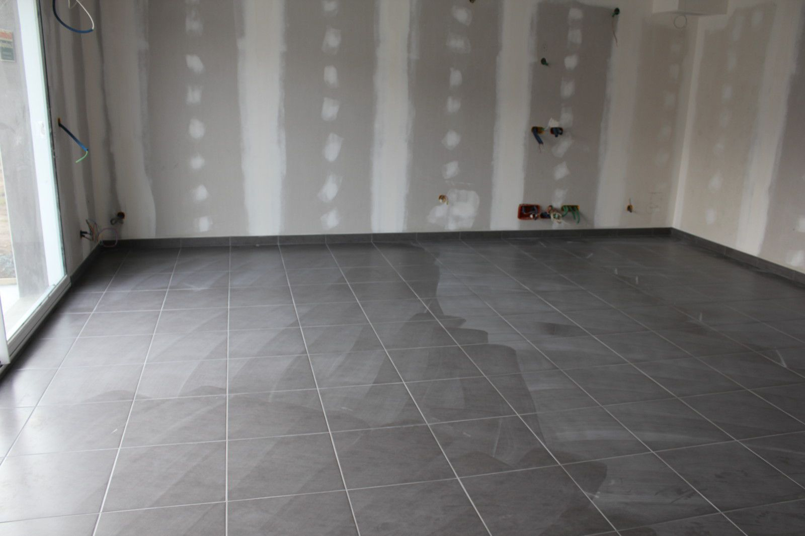 Carrelage 45x45 for Carrelage bleu gris