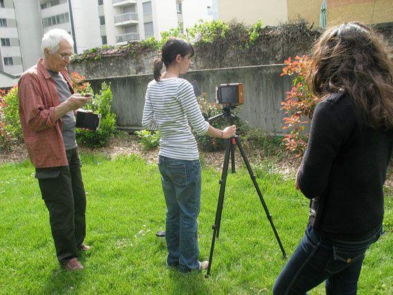 Atelier Sténopé 28 et 29 avril 2012, MJC des Eaux Claires. © vincent costarella