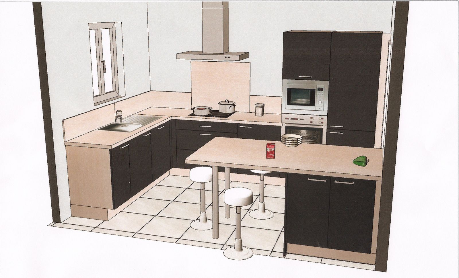 Plan petite cuisine amenagee maison design for Plan cuisine amenagee