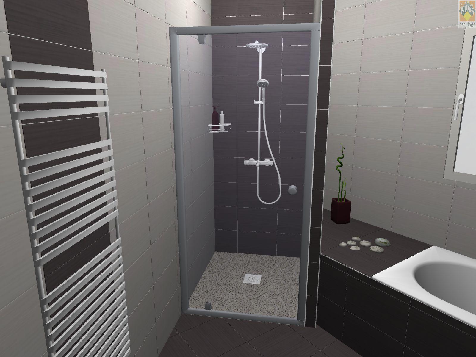 Plan 3d de notre salle de bain par folies carrelage for Carrelage salle de bain 3d