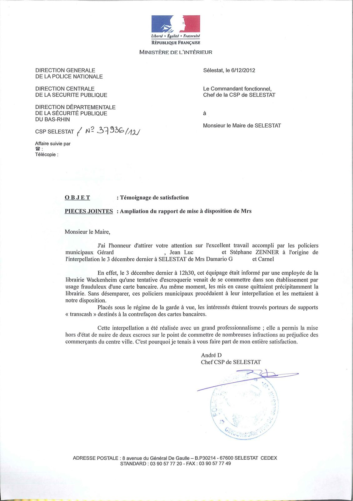 lettre police