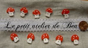polymer clay mushrooms buttons