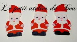 boutons fimo pere noel