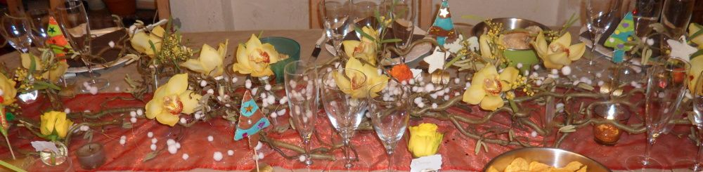 Table centerpiece and decoration of table for the parties - Table et passion ...