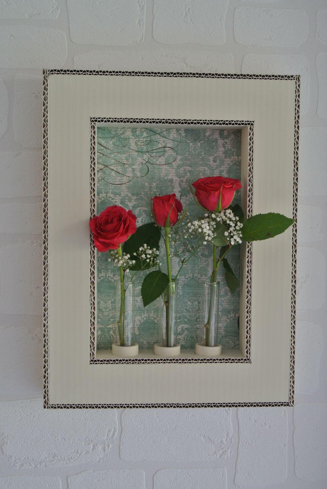 des cadres d co pour des fleurs naturelles carton magique. Black Bedroom Furniture Sets. Home Design Ideas