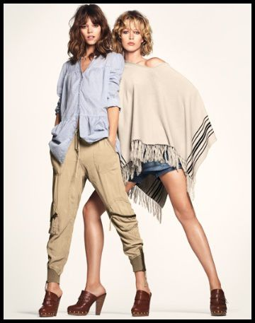 H&M Freja Erichsen et Raquel Zimmermann 2