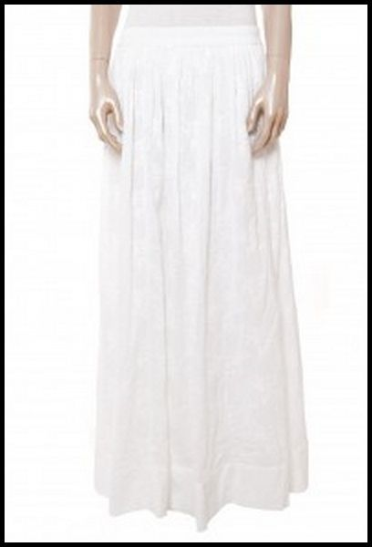 Jupe longue broderie anglaise blanche Stella Forest