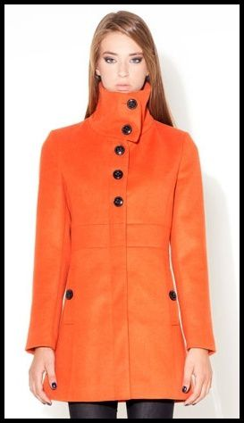 Manteau orange Stradivarius