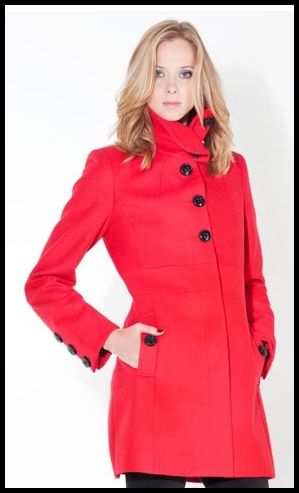 Manteau rouge Stradivarius