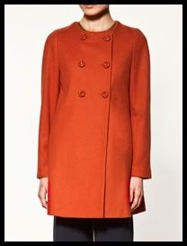 manteau orange Zara