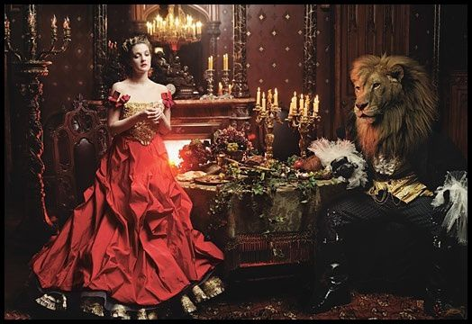 Annie Leibovitz Drew Barrymore The Beauty and the Beast 4