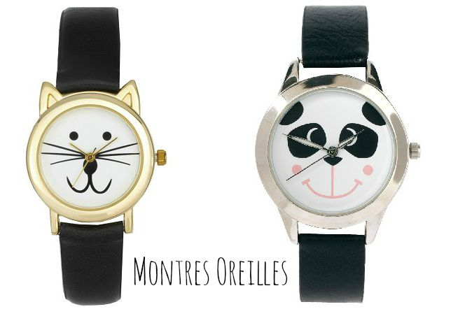montre chat lunette