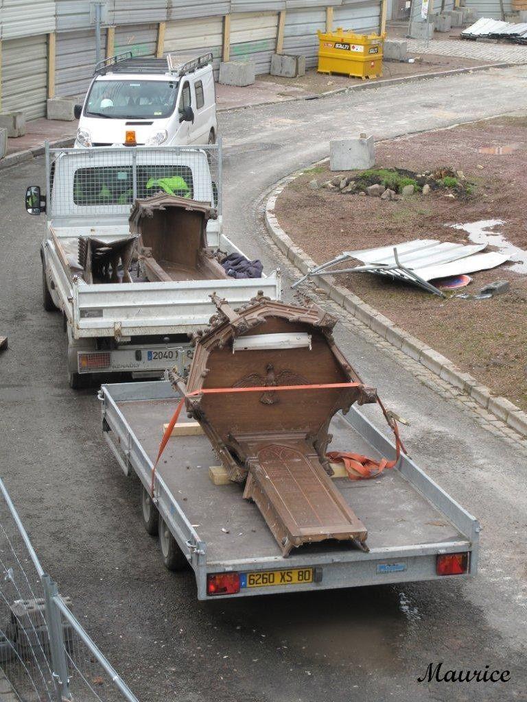 retrait du mobilier de l'église Saint Jacques le 20 mars 2013