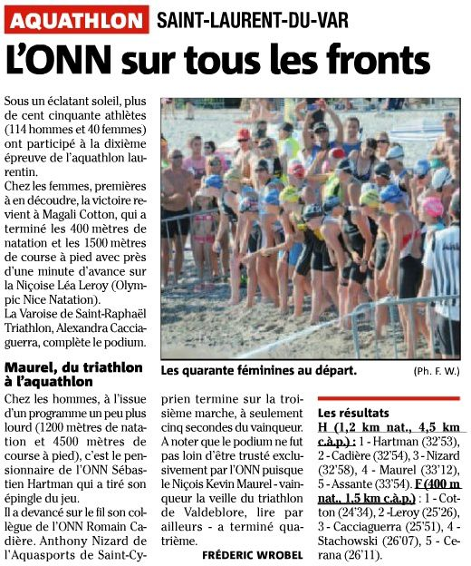 Aquathlon St Laurent