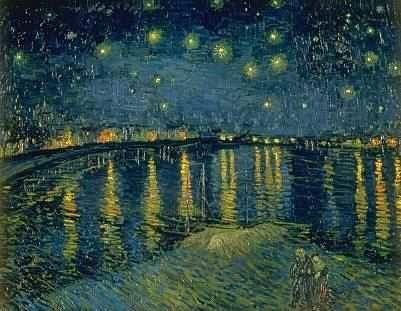 Van Gogh Nuit étoilée sur le Rhône,1888