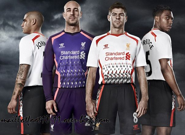 c933408064 LIVERPOOL : MAILLOT EXTERIEUR 2013/2014 - www.maillotfoot2010.com