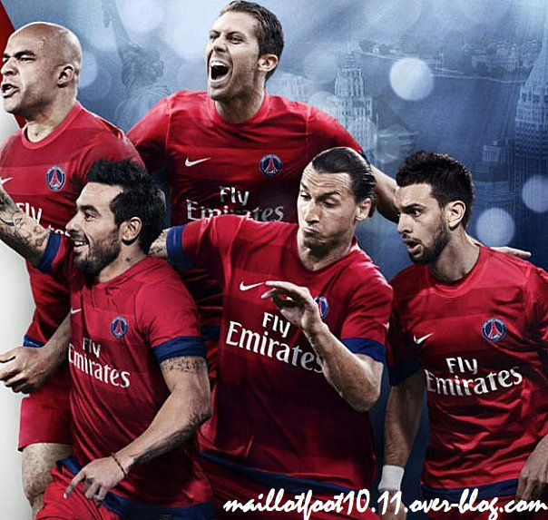 Maillots 2012 2013 du psg for Maillot inter exterieur