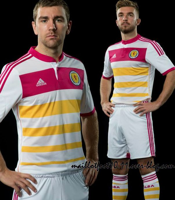 ecosse maillot away 2014 rose