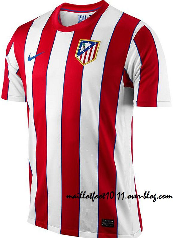 les maillots 11 12 de l 39 atletico madrid. Black Bedroom Furniture Sets. Home Design Ideas