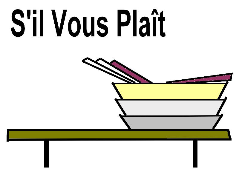Gestion du refectoire ni h risson ni paillasson - Debarrasser la table en anglais ...