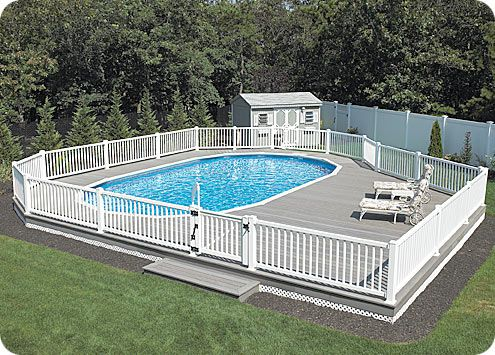 Elegant Above Ground Pool Ideas More About Pools
